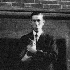H P Lovecraft and cat