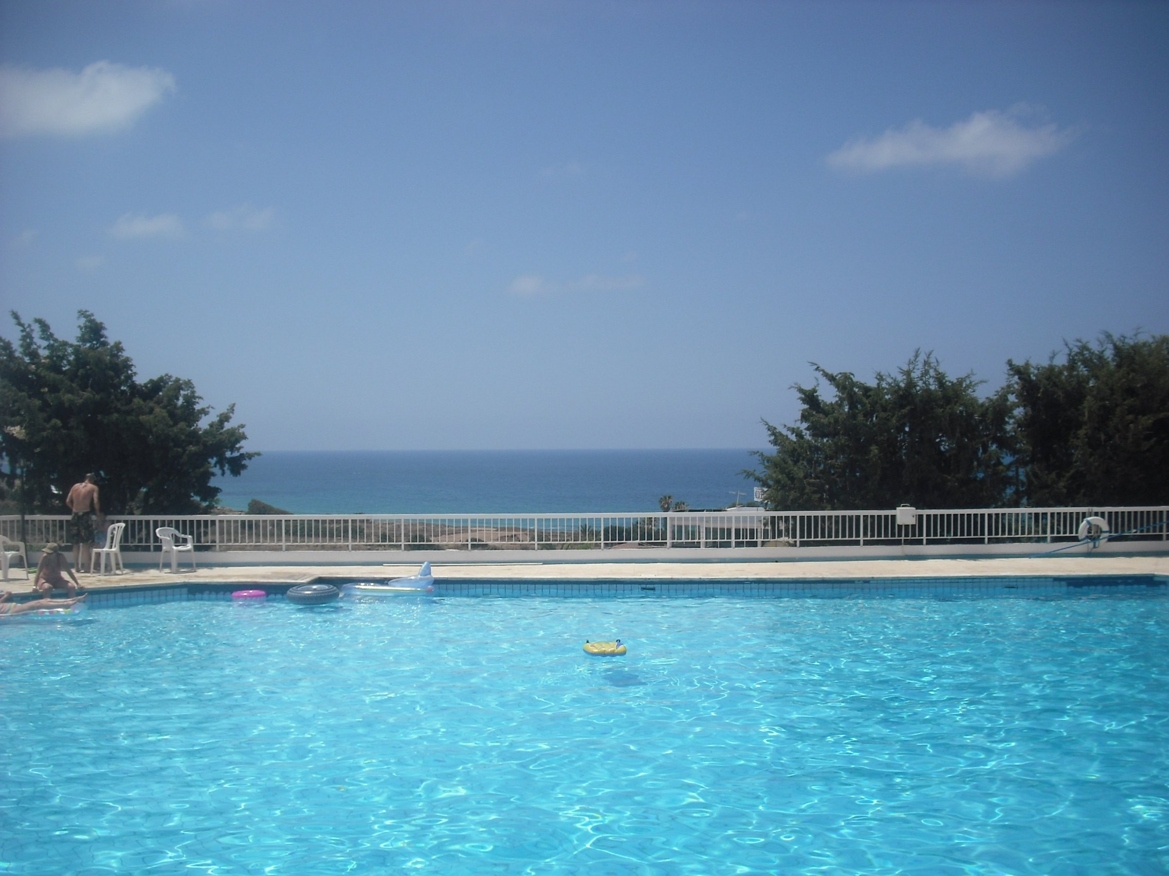 Outdoor pool in Cyprus
