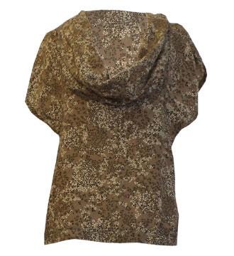 Brown cowl-neck top