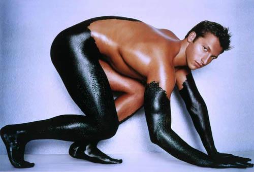 Ian Thorpe posing naked