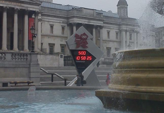 Olympics countdown clock