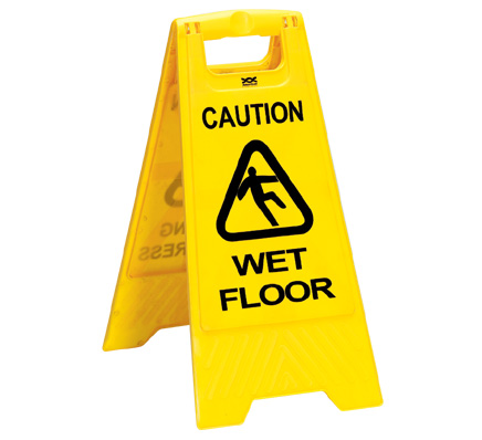 Caution: Wet Floor sign