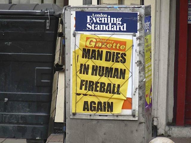 Man Dies In Human Fireball Again