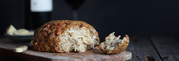 Celeriac and stilton soda bread