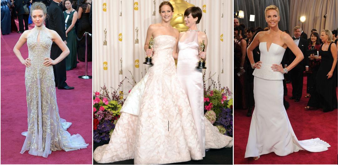 Amanda Seyfried, Jennifer Lawrence and Anna Hathaway, Charlize Theron