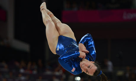 Beth Tweddle doing a floor routine